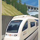 Vintage Max Light Rail Travel Poster by mitchfrey