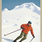 Vintage Ski Mount Hood Travel Poster by mitchfrey