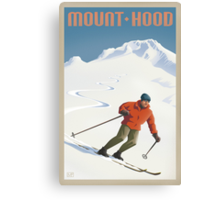 Vintage Ski Mount Hood Travel Poster Canvas Print