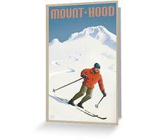 Vintage Ski Mount Hood Travel Poster Greeting Card