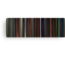 Moviebarcode: Coraline (2009) Canvas Print
