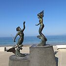 Poseidon and the mermaid - Poseidon y la sirena, Puerto Vallarta, Mexico by PtoVallartaMex