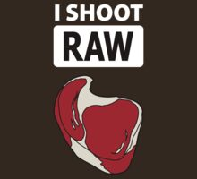 I shoot RAW (meat) - inverse by Brooke Ottley