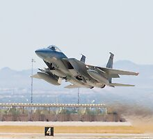 F-15C Eagle #AF 80-0028 Taking Off by Henry Plumley