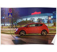 Car at evening Poster