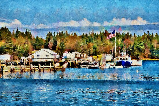 Owls Head harbor - painted by PhotosByHealy