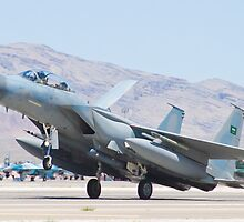 F-15S Eagle #9212 Touches Down by Henry Plumley