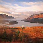 Loch Shiel on a misty november morning. by highlandscot