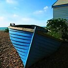 Blue boat by Monjii