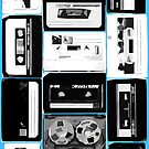 Retro Cassette Tapes in Black &amp; White by HighDesign