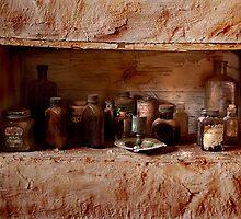 Old medicine cabinet by Haggiswonderdog