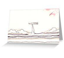 Land Line - 7 Greeting Card