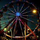 Ferris Wheel at Night by Bob Wall