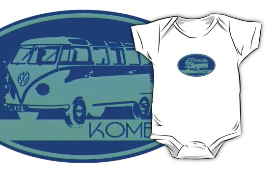 The Kombi - blue by Benjamin Whealing
