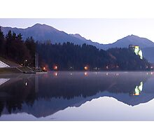 Dawn breaks over Lake Bled Photographic Print