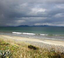 Rainstorm over Great Oyster Bay,Tasmania, Australia. by kaysharp