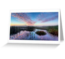 Foggy sunrise over the Town Common to Castle Hill Greeting Card
