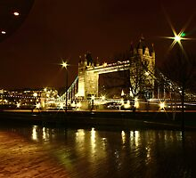 Tower Bridge at Night by Mjay