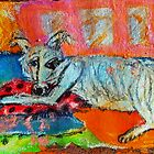 Couch Dog by Diane  Kramer