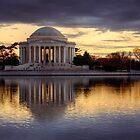 Jefferson Memorial at Sunset, Washington D.C. by strangelight