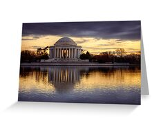 Jefferson Memorial at Sunset, Washington D.C. Greeting Card