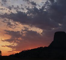 Towering Sunset by William C. Gladish