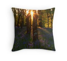 Bluebells at Sunset Throw Pillow