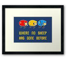 Where no Sheep Has Gone Before Framed Print