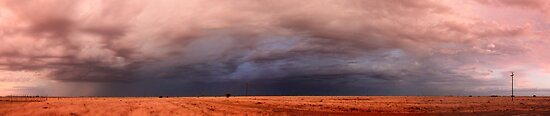 The opposite side of the sunset, 1 December 2011, Free State, South Africa  by Qnita