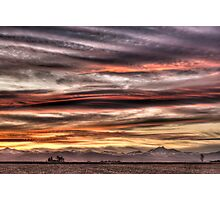 Colorado Sunset Paint Brush Photographic Print