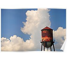 Water Tower in the Sky Poster