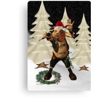 Christmas Pork ?? .. fun fantasy Canvas Print