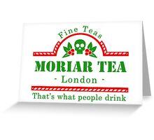 MoriarTea Christmas  Greeting Card