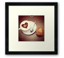 Love and a Muffin Framed Print