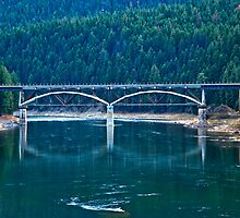 Railroad Bridge, Sanders County, Montana, USA by Bryan D. Spellman