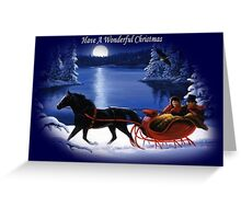 Moonlight Ride - Have A Wonderful Christmas Greeting Card