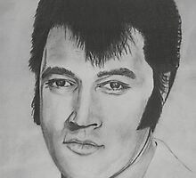 Elvis Presley - Pencil Sketch by Anthony Superina