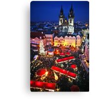 Prague Christmas Markets Canvas Print