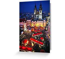 Prague Christmas Markets Greeting Card
