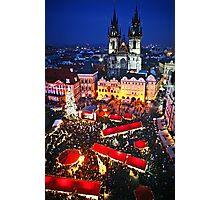 Prague Christmas Markets Photographic Print