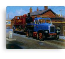 Scammell Highwayman lowloader. Canvas Print