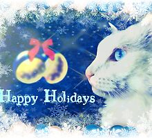 Delain says Happy Holidays - greeting card by Scott Mitchell