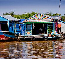 Colorful House Boats by phil decocco