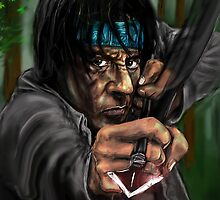 SYLVESTER STALLONE as RAMBO ! by Ray Jackson