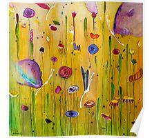 Butterflies & Blooms Poster