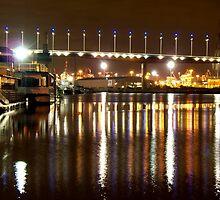 Melbourne Docklands at Night 6564 by Kayla Halleur
