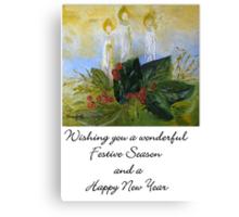 A Card for Christmas Canvas Print
