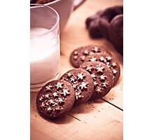 All brown biscuits and sweets Photographic Print