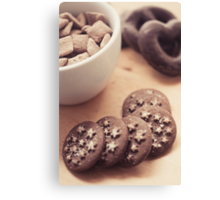 Chocolate biscuits and more chocolate sweets Canvas Print