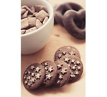 Chocolate biscuits and more chocolate sweets Photographic Print